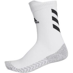 adidas Alphaskin Traxion Crew Socks, bianco/nero